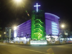 Light the church with Neon? Anything Goes
